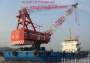 sell used floating crane 100t used crane barge 100t 100 ton