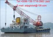 sell used floating crane 300t used crane barge 300t 300 ton