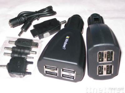 4 usb carcharger
