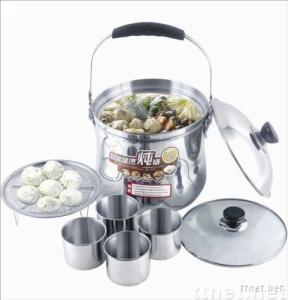 flame free cooking pot