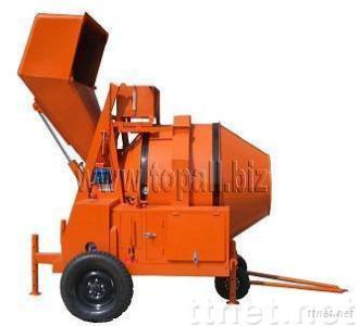 JZR350 concrete mixers with hydraulic tipping
