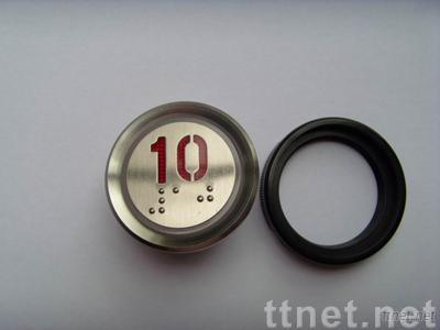 New Elevator Switch/Push Buttons with Stainless Steel Surface, Circle Design