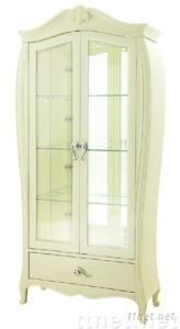 High Gloss White 2-door Wine Cabinet
