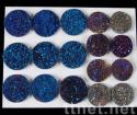 Electronic Plating Agte Druzy Drusy Cabochon