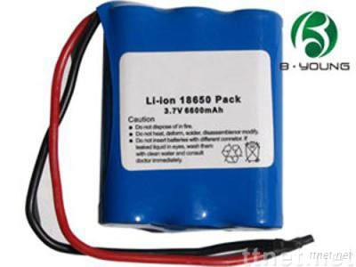 Li-ion 18650 rechargeable battery pack