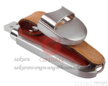 Leather USB Flash Drive, Rectangle USB Memory Disk