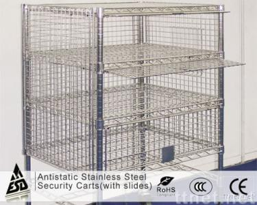 Antistatic S/Steel Security Carts(with slides)