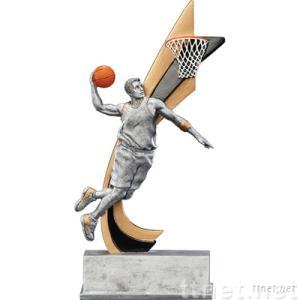 Basketball sports trophy
