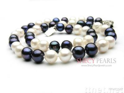 Multicolor Cultured Freshwater Pearl Necklace, 8.0mm-9.0mm , A+