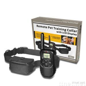 Remote training collar with LCD display