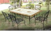 Patio Furniture Set with 6 Chairs
