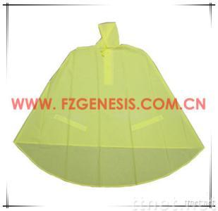 Yellow PVC Bike Rain Poncho