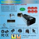 Universal laptop power adapter supply charger output 100W 12-24V