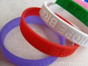 Competitive Recessed Silicone Rubber Bracelets