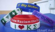 Painted Engraved Silicone Wrist Bands