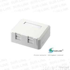 Mounting Box 2 Port, Installation Position Available for 2 Keystone Jack
