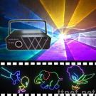 1WRGB  full color Animation disco laser light