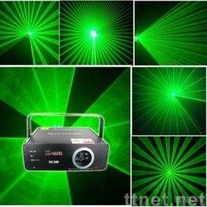 100mw or higher  single green stage laser light