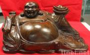 Buddha statue wood carving by 100%Ebony in feng shui styleby