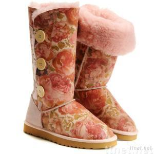 Women's brand new  Bailey Button Triplet boots, 1873,peony,size 8