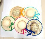 Colorful Straw Children Hats