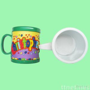 Promotional Mugs With PVC Cartoon Cover