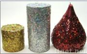 glitter powder for candle  decoration