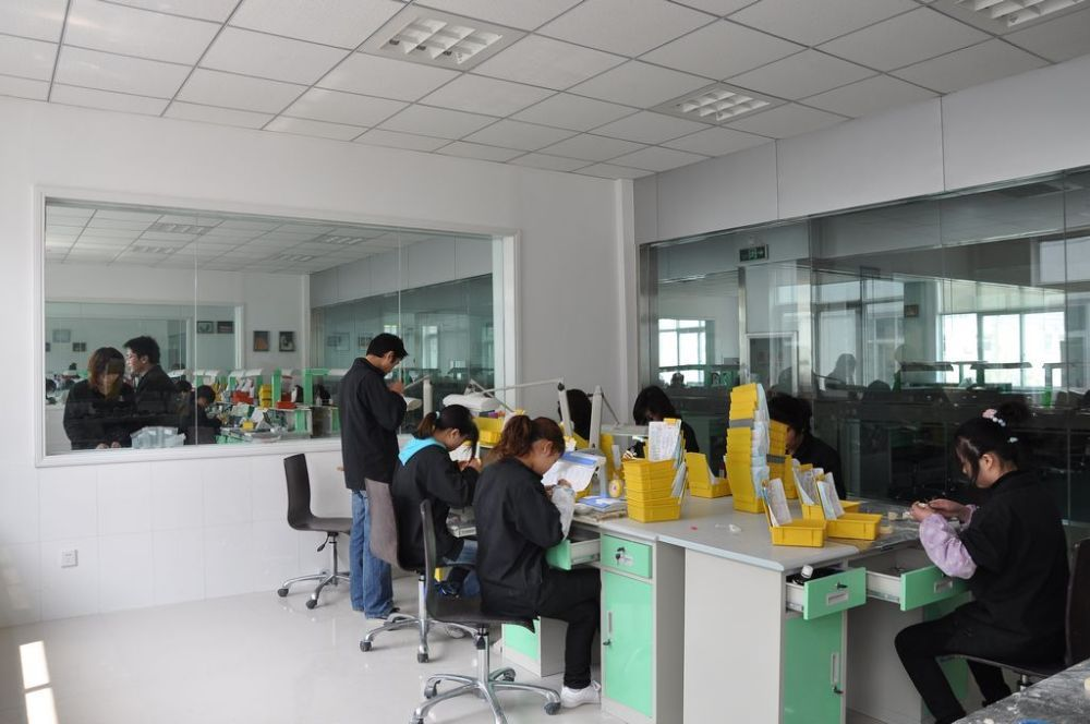 working in lab