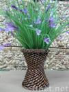 Wicker & Straw Vase