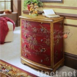 American Style Furniture,Hand Painted Furniture Manual Wood Carved Bookcase