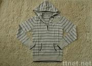 Stripe Hooded Pullover / Sweater