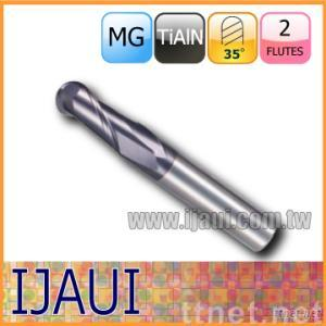 Two Flutes Solid Carbide Ball End Mill
