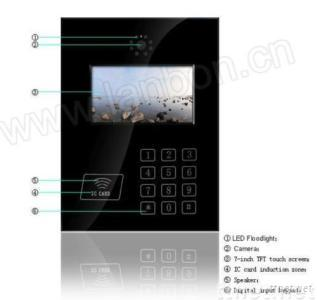 7'' Touch Screen Intecom Video Outdoor Phone Unit
