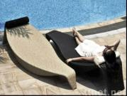 Chaise Lounger Bed, Rattan Bed, Outdoor Furniture