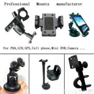 Motorcycle & Bicycle Mounts For PDA, LCD, GPS, Cell Phone